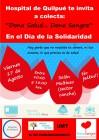 """Hospital de Quilpué invita a la Colecta """"Dona Salud…Dona Sangre"""" en el Día de la Solidaridad"""